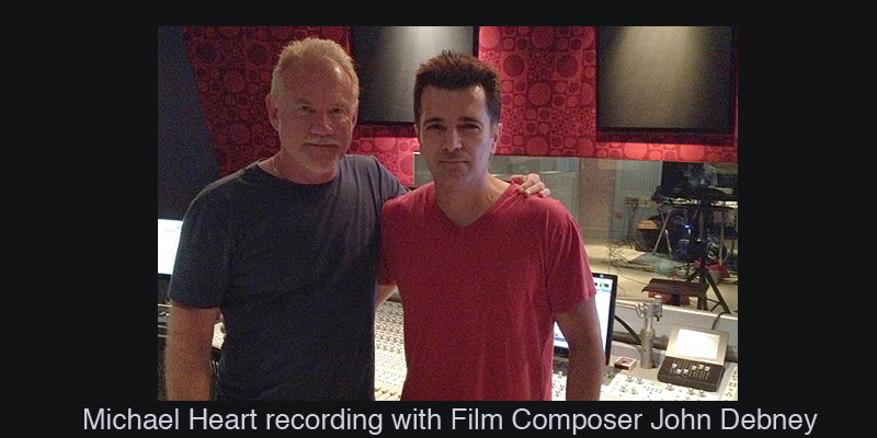 Michael Heart recording with Film Composer John Debney