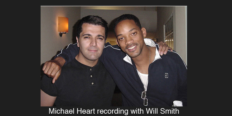 Michael Heart recording with Will Smith